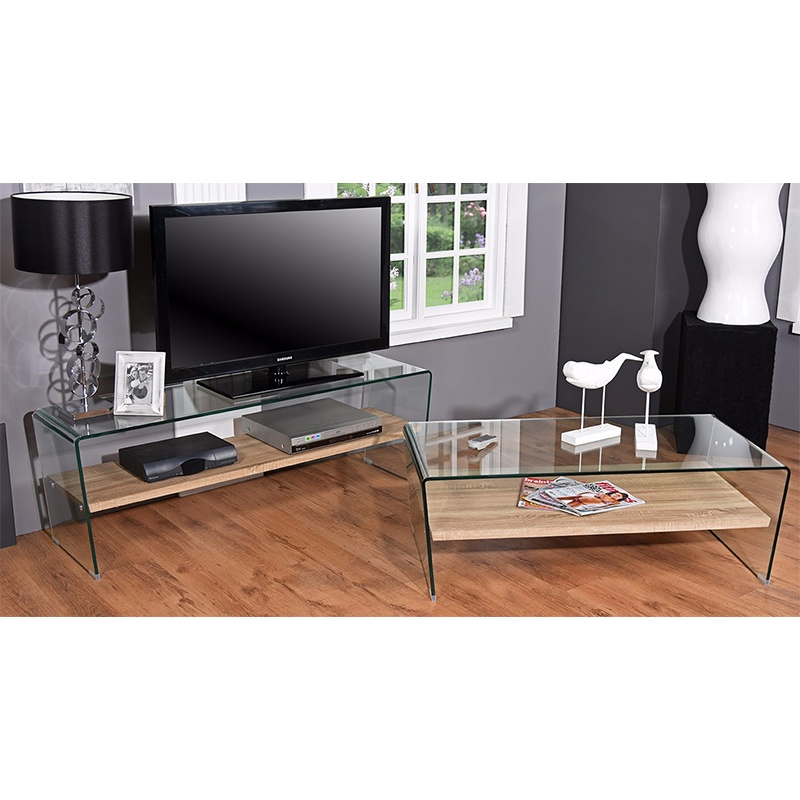 decor and design coffee tables_0000_Contemporary Glass & Wood Plasma