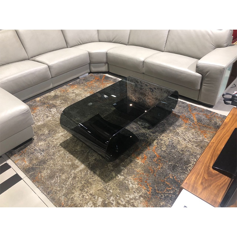 decor and design coffee tables_0002_Infinity Curves Glass Coffee Table