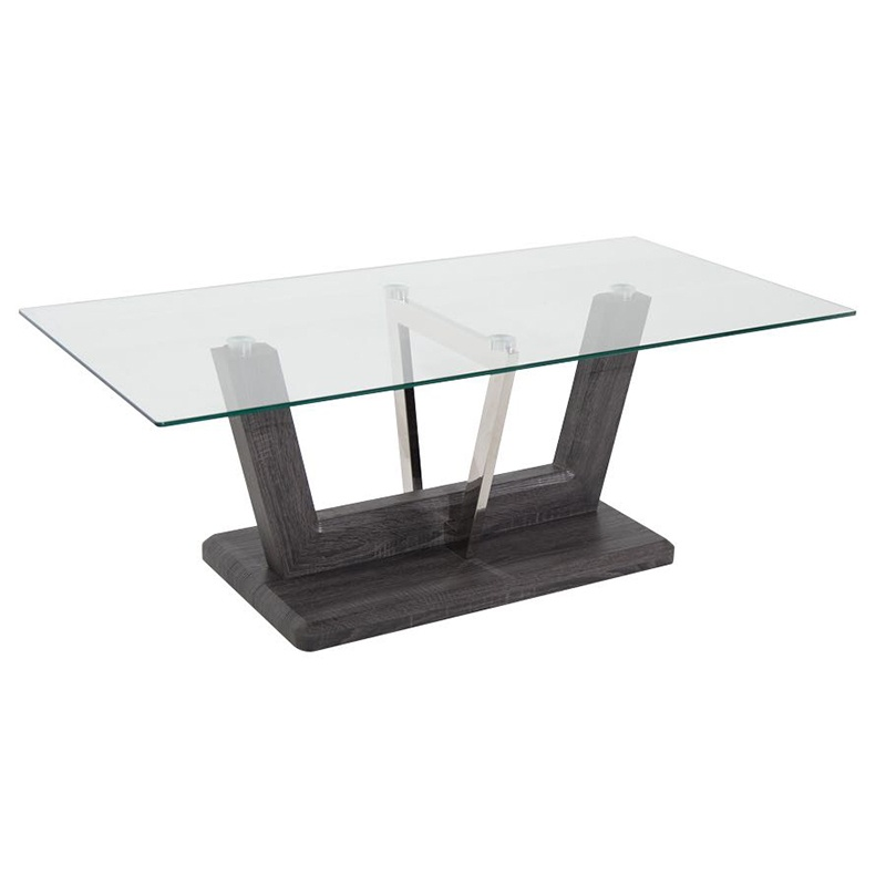 Elegant Stature Glass Wood Coffee Table Decor And Design